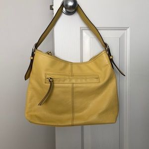 Tignanello Yellow Shoulder Bag Purse